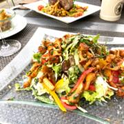 Salatplatte Pfifferlinge